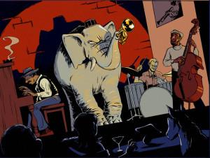 ElefantJazzKlubColorWeb